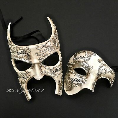 Venetian Silver/ivory Men Women Costume Masquerade Anniversary Party Ball Masks - Mens Masquerade Ball Costumes