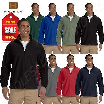 2 Full Zip Fleece Jacket (Harriton Jacket Men's 8 oz Full-Zip Fleece Solid BIG SIZES 2X-6XL)