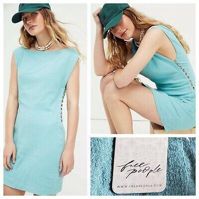 Free People Amaia Mini Dress Blue Size XS NWT