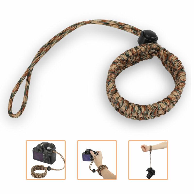 Adjustable Paracord Grip Wrist Camera Hand Strap Bracelet for DSLR Camcorder New
