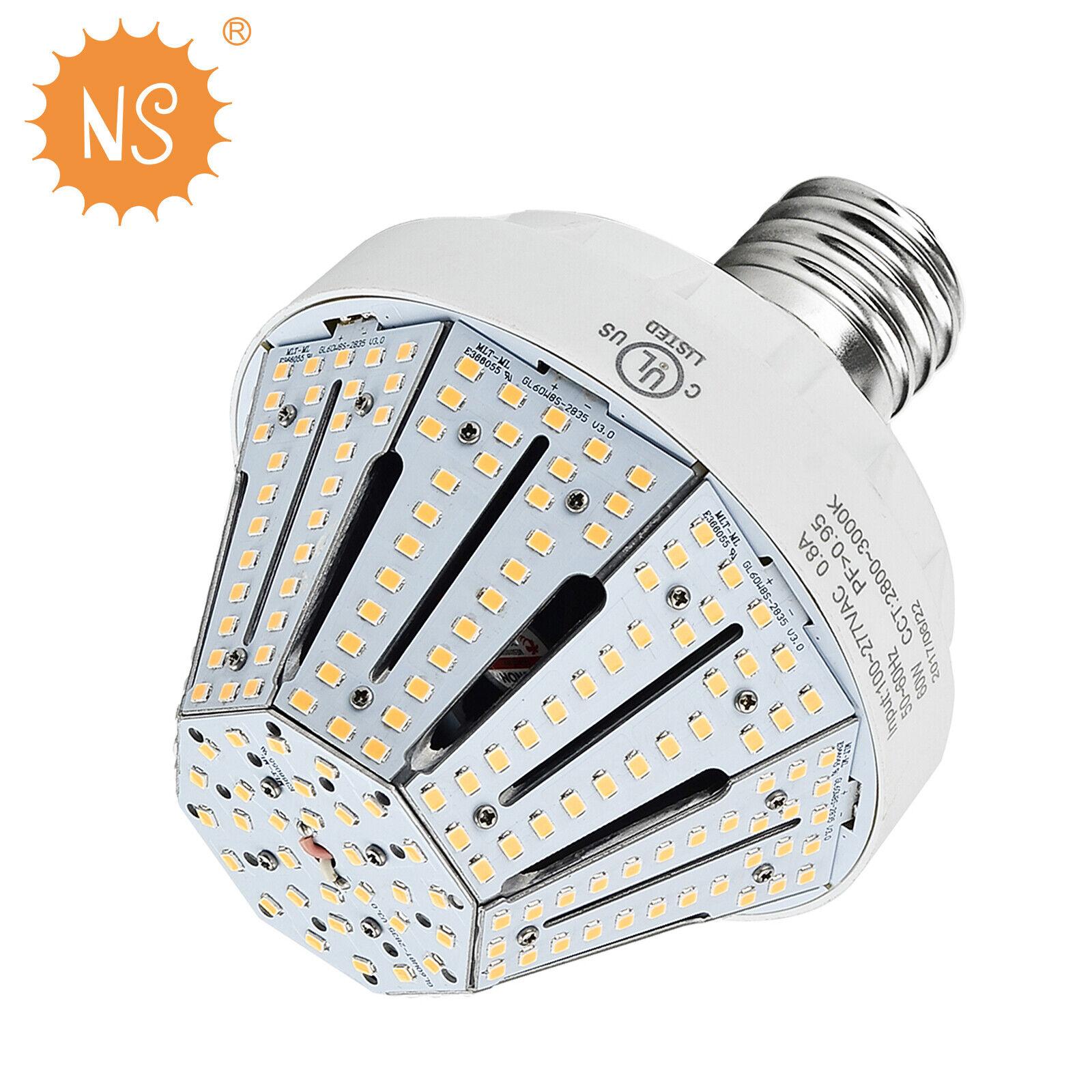 60W LED Corn light bulb street area shoebox parking lot light E39 mogul 8100Lm