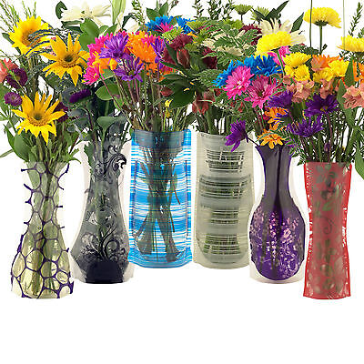 Flipo Bloomers Plastic Foldable Reusable Flower Vase, Various Colors - Plastic Flower Vases