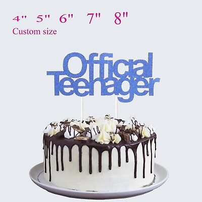 Official Teenager Cake Topper 13th Birthday Cake Topper Party Decor (13th Birthday)