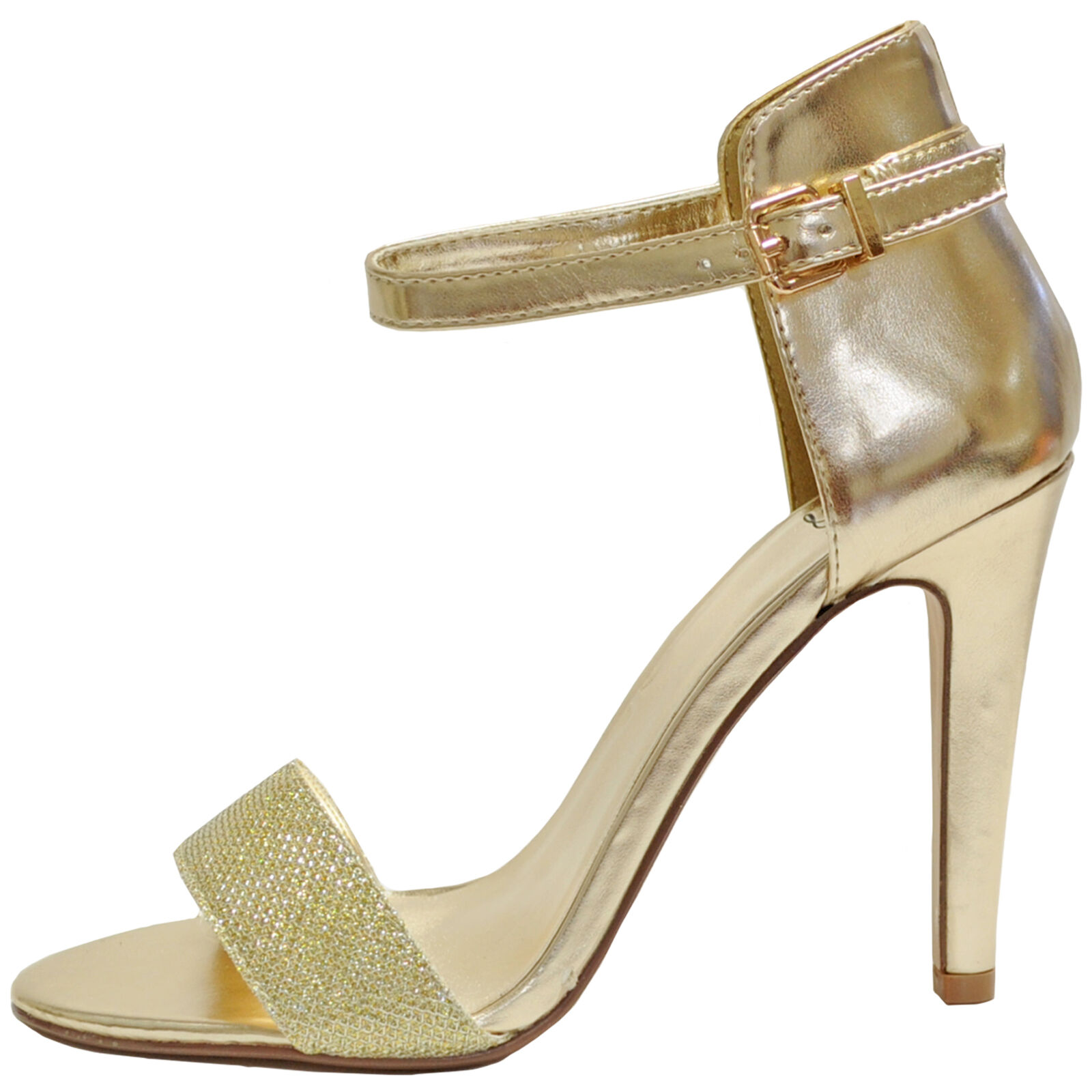 New women's shoes open toe stilettos high heel dressy gold fashion formal prom  1