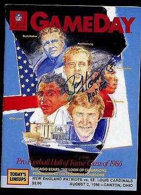 1986 Gameday HOF Inductees Issue Paul Hornung Autographed Hologram