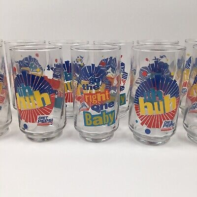 Diet Pepsi Vintage Glass You Got The Right One Baby Uh Huh Ray Charles 11 Pc Lot