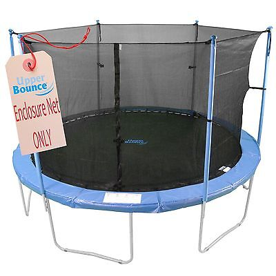 Upper Bounce 12 ft. Trampoline Enclosure Safety Net Fits Round Frames New