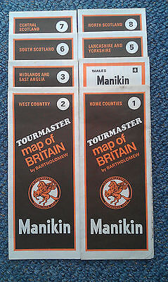 MANIKIN TOUR MAPS OF GREAT BRITAIN  (8 in total)
