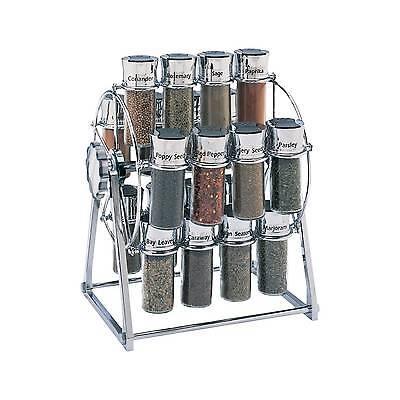 Olde Thompson Ferris-Wheel Chrome 20-Jar Filled Spice Rack