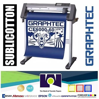 Bundle 24 Graphtec Ce6000-60 Plus Vinyl Cutterplotter Sublicotton 24x50
