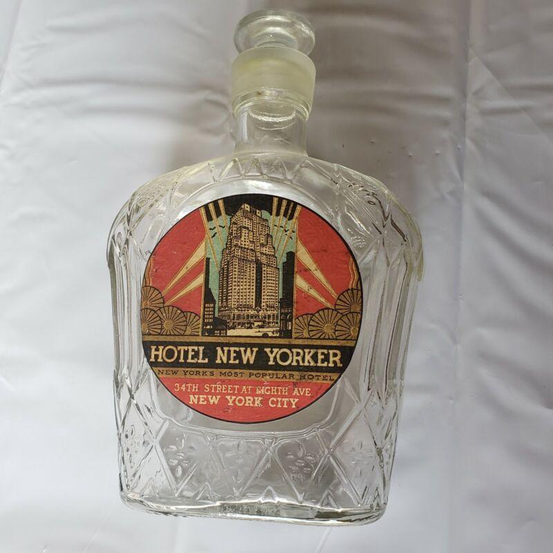 Hotel New Yorker Whiskey Bottle -