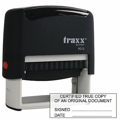 Traxx 9013 Certified True Copy Rubber Stamp For Accountants Solicitors Etc.