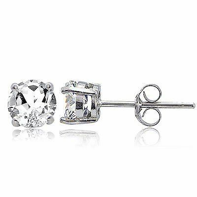 925-Sterling-Silver-2ct-White-Topaz-Stud-Earrings