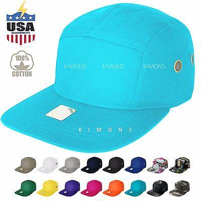 5 Panel Hat Cap Floral Leather Hip hop Snapback Skate Camp Army Blank Plain Brim ()