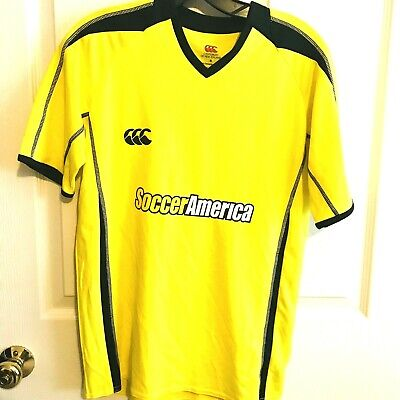 7bbd9670c Canterbury Of New Zealand Soccer America #7 Men's Yellow Soccer Jersey S