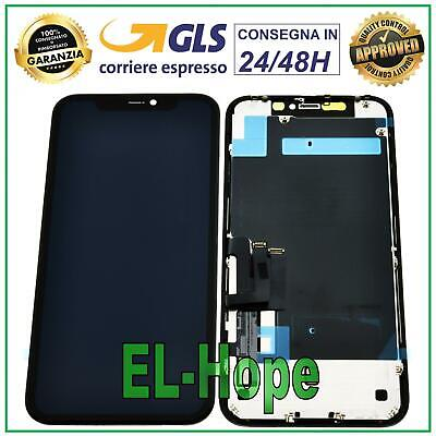 DISPLAY LCD APPLE IPHONE 11 TOUCH SCREEN SCHERMO VETRO MONITOR ASSEMBLATO NERO