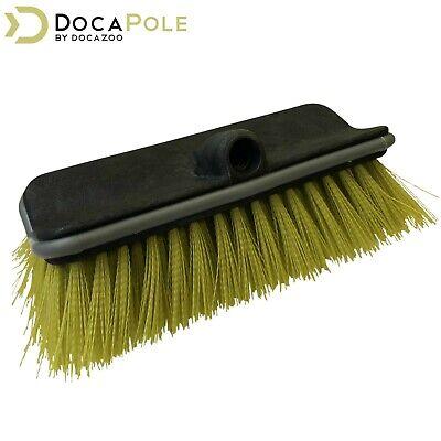 DocaPole Hard Bristle Deck Brush Bi-Level Scrub Brush Extension Pole Attachment Bristle Deck Brush