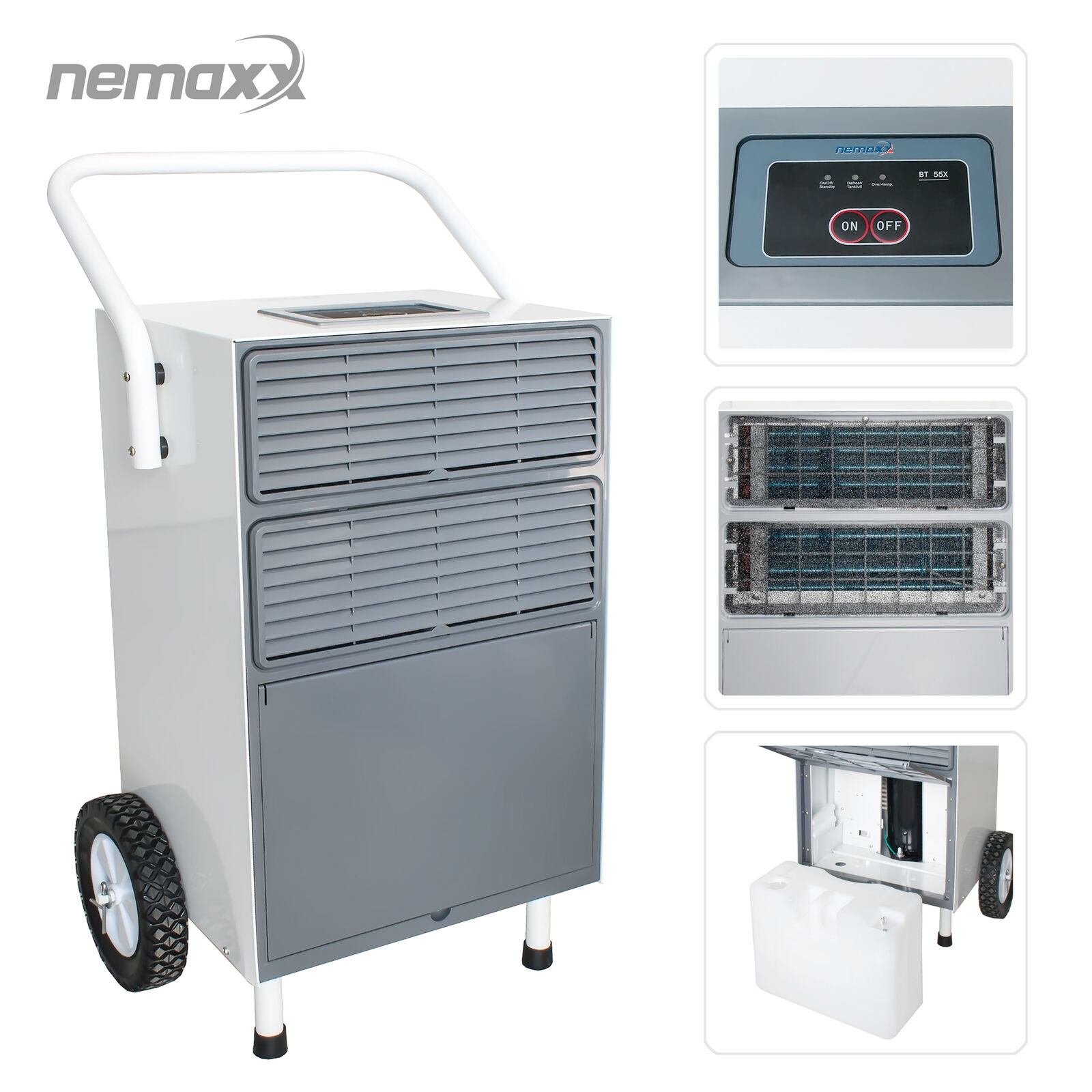 Nemaxx BT55X Bautrockner Kondenstrockner Raumentfeuchter Entfeuchter bis 55 L