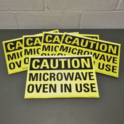 """(5) Lyle """"Caution Microware Oven In Use"""" Sign U4-1533-RD_14X10, 10"""" x 14"""""""