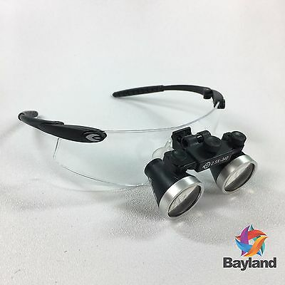 New Seiler 2.5x 340mm Black 250blkg Dental Medical Surgical Loupes Waccessories
