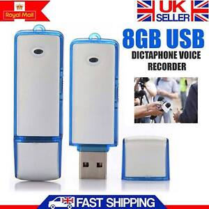 Mini 8GB Digital USB Dictaphone Voice Recorder Spy Listening Device Memory Stick