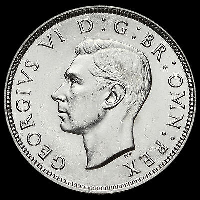 1937 George VI Silver Two Shilling Coin / Florin, G/EF