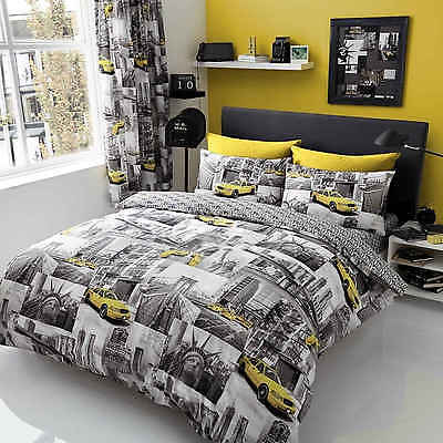 New York Patchy Duvet Cover Quilt Cover Bedding Set With Pillowcases NYC