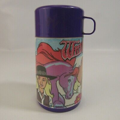 Vintage Wildfire 1986 Plastic Thermos Cartoon Aladdin Purple