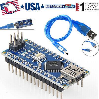 Usb Nano V3.0 Atmega328p 5v Micro Controller Board With Usb Cable For Arduino