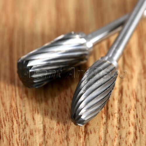 10pcs Tungsten Carbide Polishing Burs Tips For Drill Die Grinder Carving Rotary 7