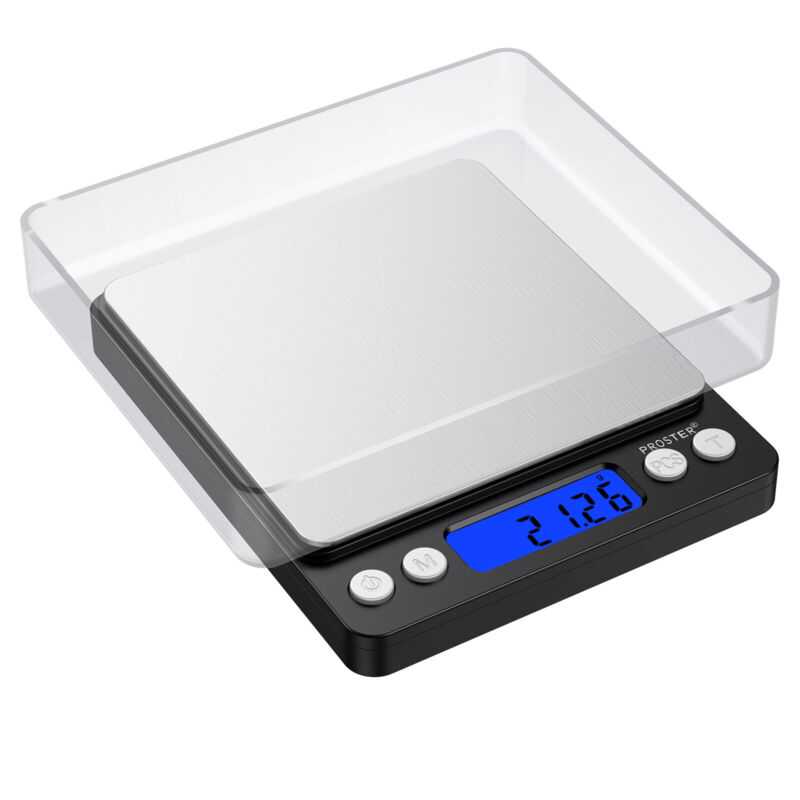 PROSTER Digital Scale 500gx0.01g Jewelry Gold Silver Coin Gram Pocket Herb Grain