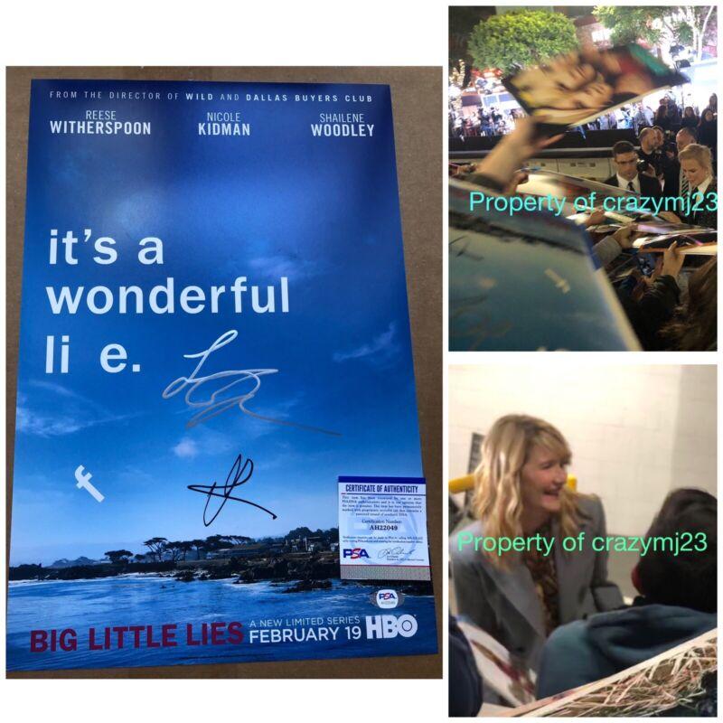 Nicole Kidman Laura Dern Signed Big Little Lies HBO Autograph Proof PSA DNA COA