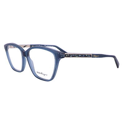 Salvatore Ferragamo Eyeglasses SF2804R 424 Crystal Blue Women 55x14x140