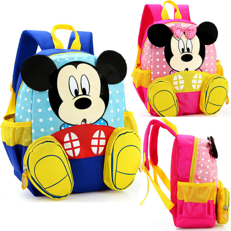 toddler kids girls cartoon mickey mouse backpack