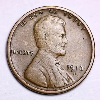 1918 S Lincoln Wheat Cent Penny Lowest Prices On The Bay   Free Shipping