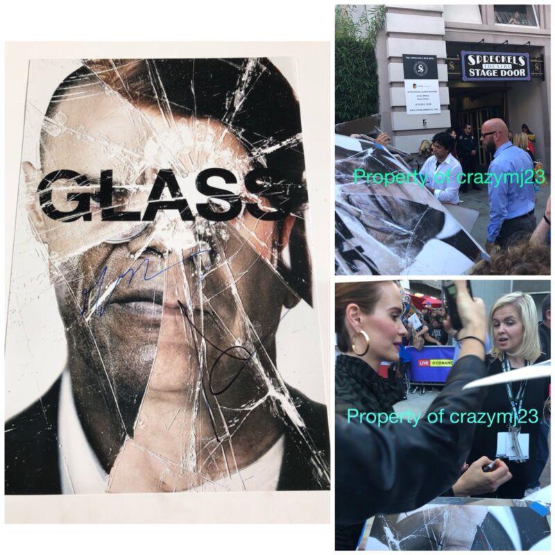 M. Night Shyamalan Sarah Paulson Signed Glass Poster 12x18 Autograph Exact proof