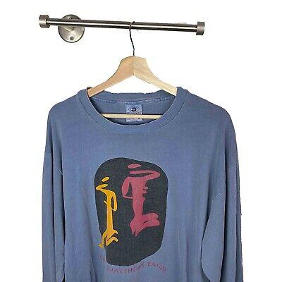 vintage dave matthews band Long Sleeve T shirt BLUE HUE Mens Large Single Stitch Dave Matthews Band