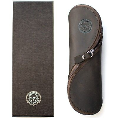 Genuine Leather Pencil and Reading Glasses Case - Authentic and Unusual (Unusual Reading Glasses)