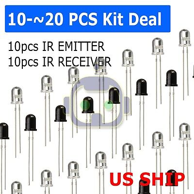 Infrared Ir Led Sender Receiver Pairs You Choose Quantity 3mm Or 5mm Usa