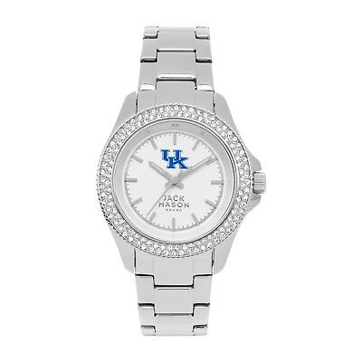 JACK MASON SILVER DIAL CRYSTALS STAINLESS STEEL LADIES WATCH JMU-1016-KY NEW