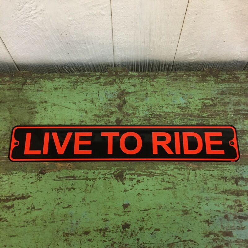 Live To Ride Metal Street Sign Harley Davidson Biker Garage Bar Decor Motorcycle