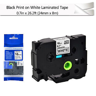 Black On White Label Tape Compatible For Brother P-touch Pt-2730 Tz Tze-241 0.7