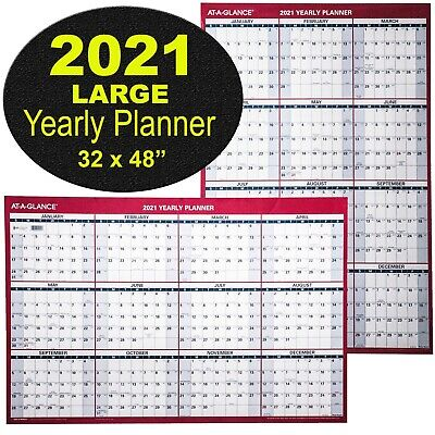 At-A-Glance PM326-28 2021 Yearly Planner Large Dry Erase Wall Calendar, 32 x