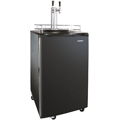 Commercial Brew Fridge Dual-Tap Draft Beer Kegerator Dispenser Cool (Commercial Double Refrigerator)