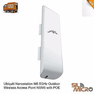 New Ubiquiti Nanostation M5 5GHz Outdoor Wireless Access Point NSM5 with POE