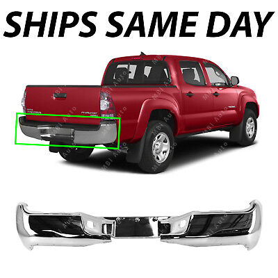 NEW Chrome Steel Rear Bumper Face Bar Shell for 2005 2015 Toyota Tacoma 05 15