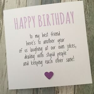 FUNNY BEST FRIEND BIRTHDAY CARD/ BESTIE / HUMOUR/ FUN / SARCASM - Another YPP