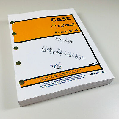 J I Case 304 404 Trencher 304 Special Parts Manual Catalog Exploded Views
