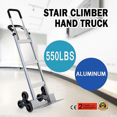 2in1 Aluminum Hand Truck Convertible Folding Stair Climber Hand Truck 550lbs