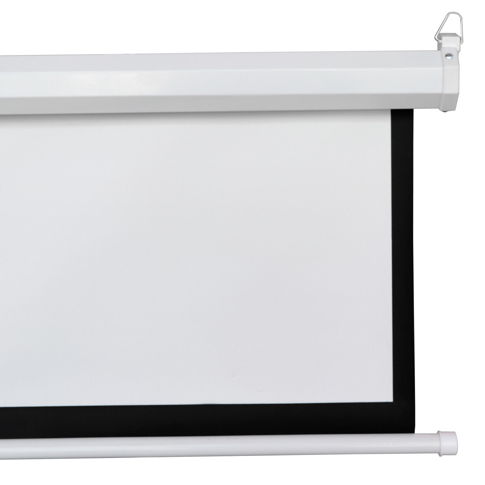 HD 100″ 16:9 Manual Pull Down Projector SCREEN MATERIAL 1.1 GAIN Matte White Consumer Electronics